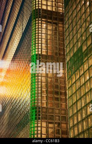 Japan, Tokyo, Ginza, Maison Hermes Store, Architect Renzo Piano - Stock Photo