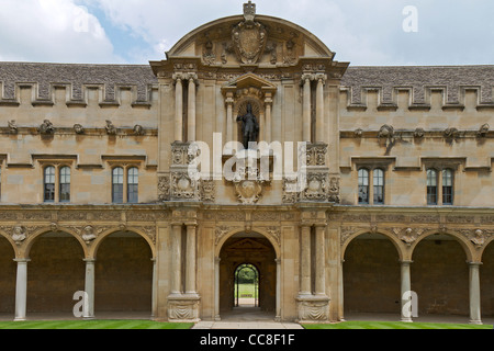 UK Oxford St. John's College Part Of Front Quadrangle - Stock Photo