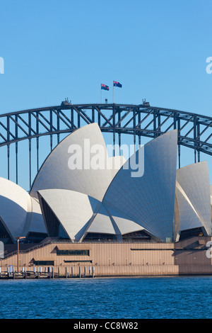 Sydney Opera House  and Harbour Bridge - Stock Photo