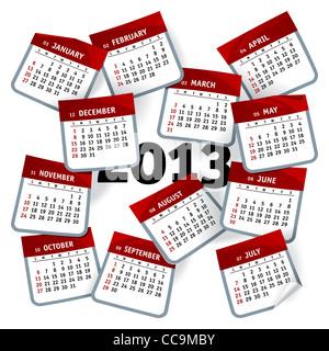 2013 calendar template - Stock Photo