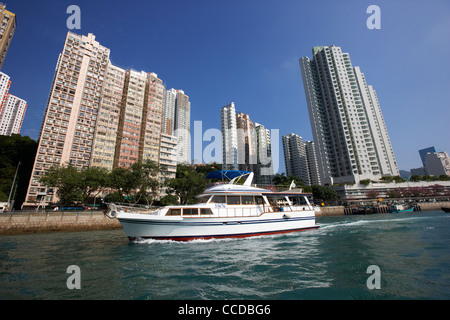 large charter boat in aberdeen harbour hong kong hksar china asia - Stock Photo
