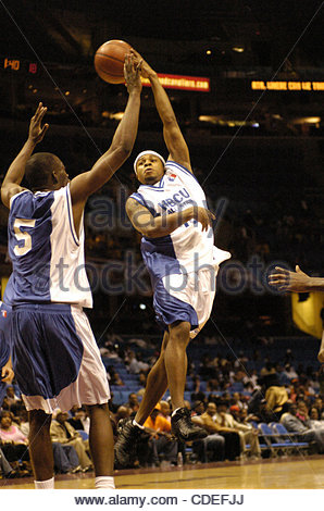 Apr. 16, 2005 - Cleveland, OH, USA - Anthony Diggs, Kentucky State University, playing for the HBCU All-Stars - Stock Photo