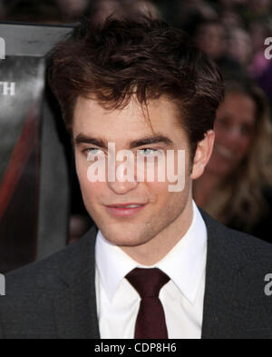 Apr. 17, 2011 - New York, New York, U.S. - Actor ROBERT PATTINSON attends the New York premiere of 'Water for Elephants' - Stock Photo