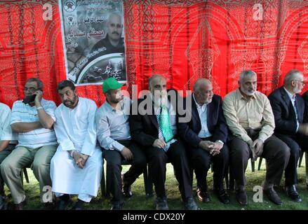 Oct. 19, 2011 - Gaza City, Gaza Strip, Palestinian Territory - Palestinian prime minister in Gaza Strip, Ismail - Stock Photo