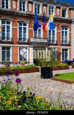 Hotel de Ville or Town Hall in the old part of Boulogne-sur-Mer, Pas de Calais, France - Stock Photo