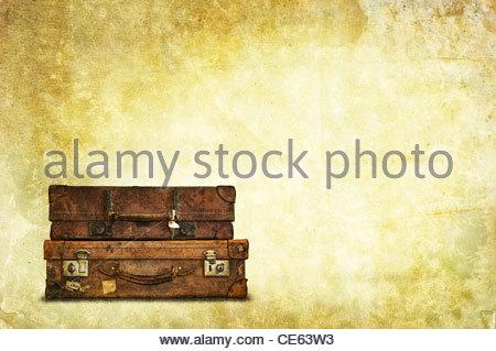 vintage luggage - Stock Photo