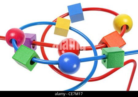 Bead Maze toy - Stock Photo