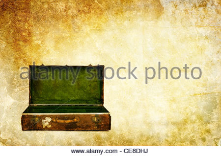 open suitcase - Stock Photo