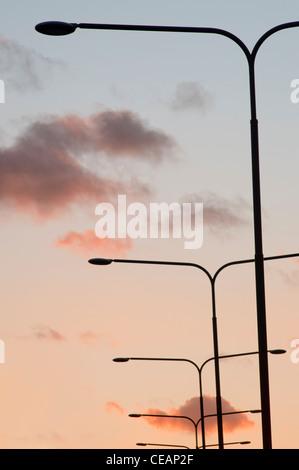 Streetlights and sky - Stock Photo