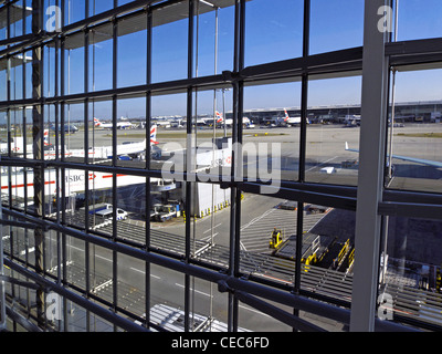 united kingdom west london heathrow airport terminal 5 - Stock Photo