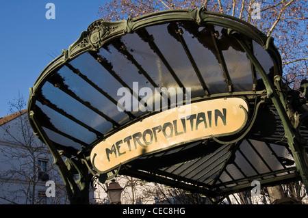 art nouveau metro station abbesses pigalle paris france stock photo 67539041 alamy. Black Bedroom Furniture Sets. Home Design Ideas