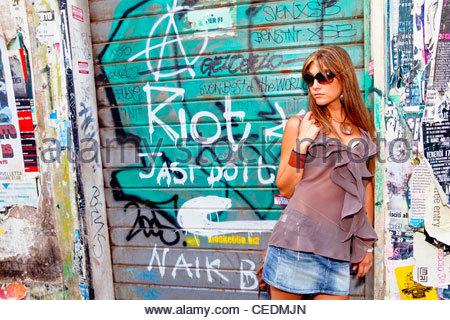 Fashion model posing - Stock Photo