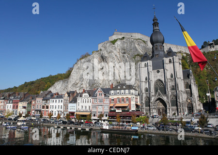 Cathedral and citadel dinant namur belgium stock photo for Center carrelage namur