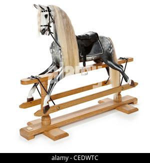 Grey rocking horse Stevenson brothers - Stock Photo