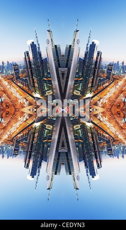 Downtown Dubai abstract - Stock Photo