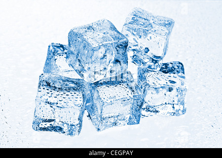 the pile of many ice cubes - Stock Photo