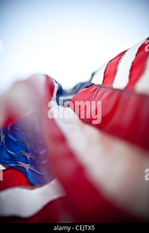 American Flag in the breeze - Stock Photo