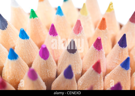 Macro close up of colored pencils - Stock Photo