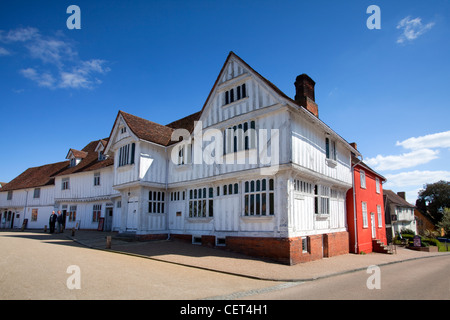 The Guildhall of Corpus Christi, a timber framed building which now houses a local history museum, with exhibitions - Stock Photo