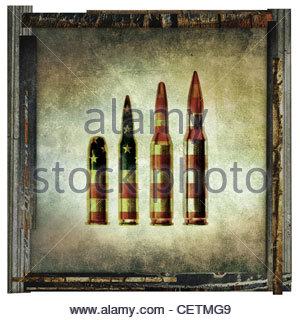 american bullets artwork - Stock Photo