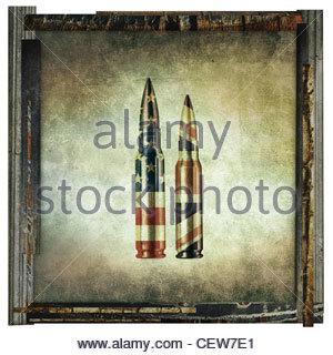 USA UK bullets - Stock Photo