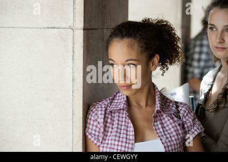 Young woman in thought - Stock Photo
