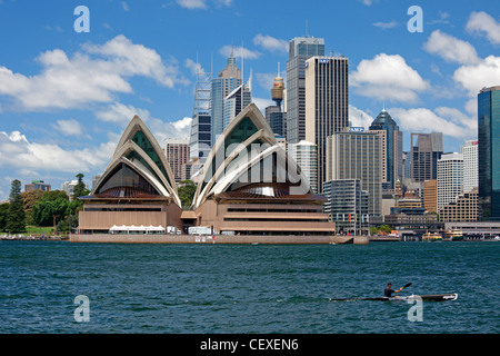 Sydney Opera House, harbour and  Sydney downtown - Stock Photo