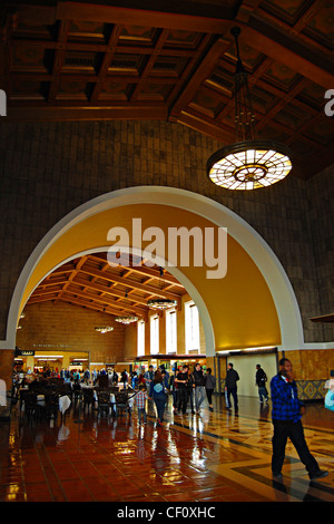 Union Station Interior, Los Angeles, California - Stock Photo