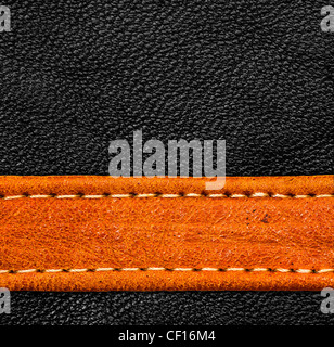 A brown and black leather texture. high resolution. - Stock Photo