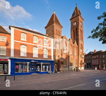 Town Hall and Market Place in Newbury. - Stock Photo