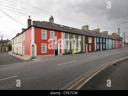 A row of colourful houses in Kilkenny. - Stock Photo