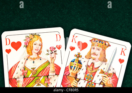 King and Queen of hearts - Stock Photo