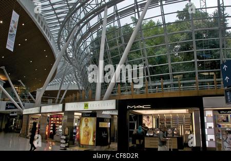 duty free shop international airport Kuala Lumpur Malaysia - Stock Photo
