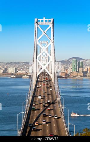 Oakland Bay Bridge, San Francisco, California, USA - Stock Photo