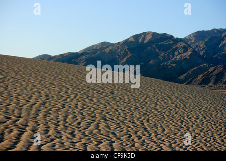 Mesquite Sand Dunes and desert in Death Valley National Park - Stockfoto