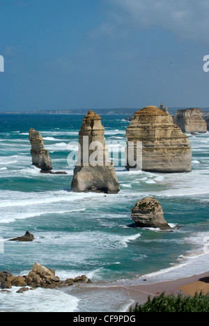 Australia, Victoria, Great Ocean Road, Port Campbell National Park, The Twelve Apostles - Stock Photo
