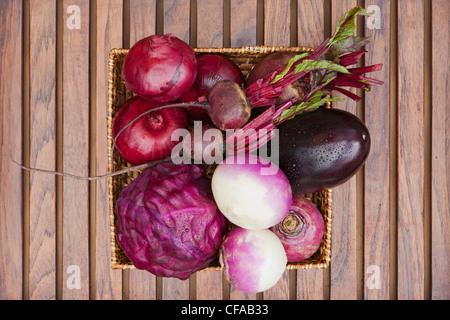 Close up of basket of produce - Stock Photo