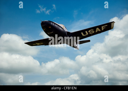 USAF T-37B Plane in Flight - Stockfoto