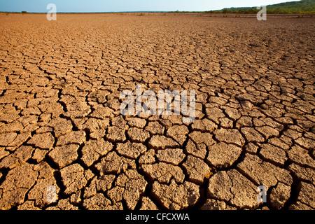 Landschaft im Sarigua Nationalpark (Wüste) Herrera Provinz, Republik von Panama. - Stockfoto
