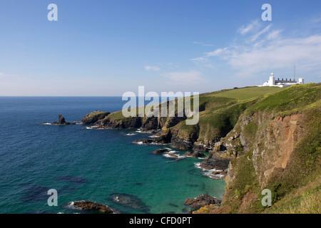 Lighthouse, Lizard Point, Cornwall, England, United Kingdom, Europe - Stock Photo