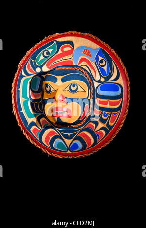 Eagle Selion Moon Mask Trevor Hunt Kwagiulth - Stock Photo