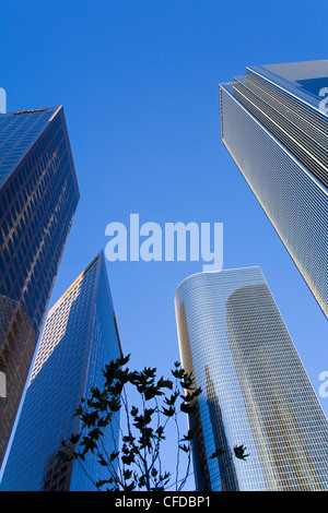 Downtown skyscrapers in Los Angeles, California, United States of America, - Stock Photo
