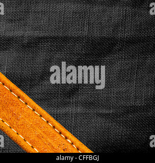 Image of leather and textile background. - Stock Photo