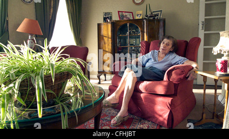 united kingdom west london portrait of a one hundred year old woman - Stock Photo
