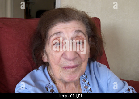 united kingdom west london portrait of a one hundred year old woman - Stockfoto