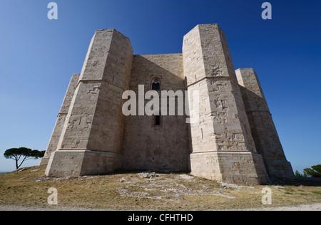 Castel del Monte, stronghold in Andria - Apulia, Italy. - Stock Photo