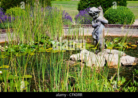 Ornamental stone water feature in garden centre stock for Ornamental pond fish uk