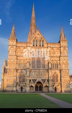 Salisbury Cathedral, Salisbury, Wiltshire, England, United Kingdom, Europe - Stock Photo