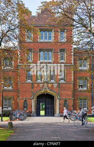 Jesus College, Cambridge, England, - Stock Photo