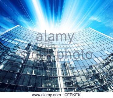corporate modern office - Stock Photo